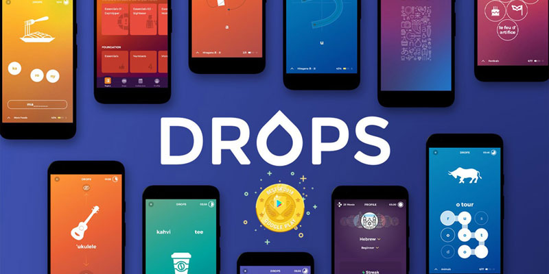 اپلیکیشن آموزش زبان DROPS